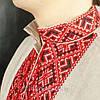 Чоловіча сорочка вишиванка із сірого льону, фото 4