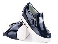 Модная демисезонная обувь. Сникерсы для девочек от производителя Waldem S-19 Blue (12/6 ар, 33 - 38)