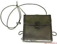 Сумка- кошелек для документов на шею олива, фото 1