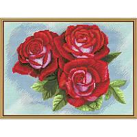 Красная роза. Набор для вышивания нитками