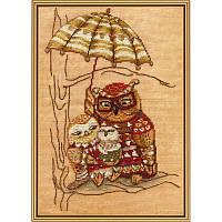 Под зонтом. Набор для вышивания нитками