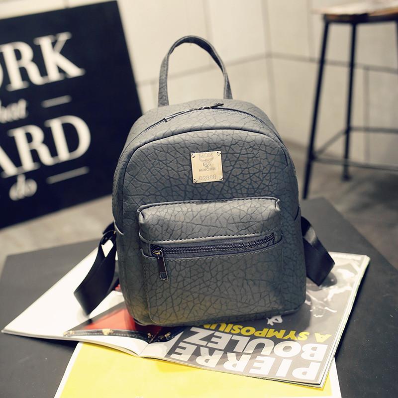 Сумка-рюкзак женский повседневный городской кожа PU темно-серый.