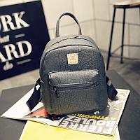 Сумка-рюкзак женский повседневный городской кожа PU темно-серый., фото 1
