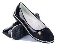 Туфли для девочек оптом от производителя Waldem S-20-1 Black (12/6 пар, 31-36)