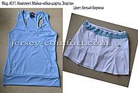 Комплект из эластана. Юбка-шорты и майка. Мод. 4011., фото 1