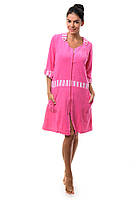 Женский махровый халат Эсра,розовый