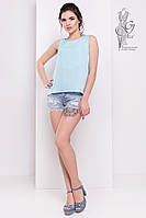 Блуза красивая Рейн-4 из Мокрого шелка с кружевом