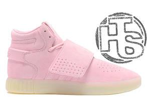 Женские кроссовки Adidas Tubular Invader Strap Pink B39364