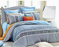 Полуторный комплект постельного белья 150*220 сатин (7466) TM KRISPOL Україна