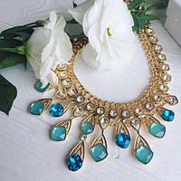 Колье женское Monic голубое,магазин бижутерии, фото 1