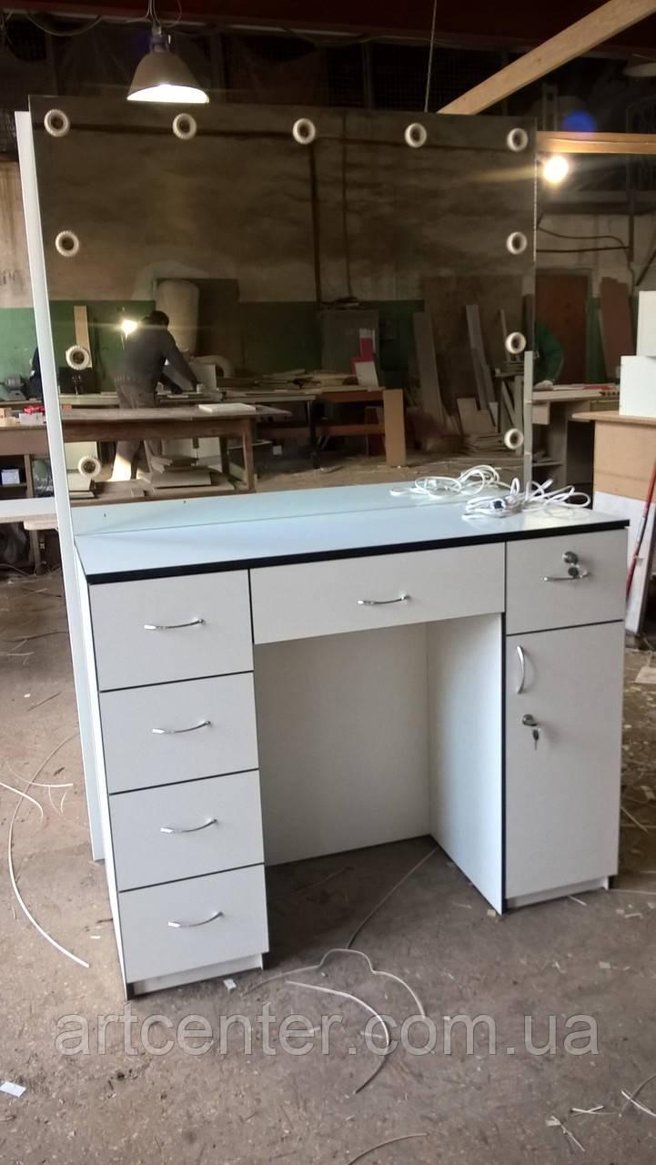 стол для визажиста туалетный столик с выдвижными ящиками и