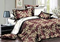 Полуторный комплект постельного белья 150*220 сатин (7214) TM KRISPOL Україна