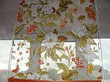 Комплект панельних шторок оранж і теракот квіти, 2м, фото 4