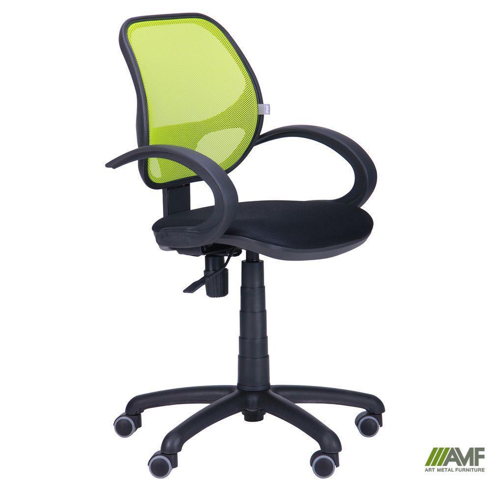 Кресло Байт/АМФ-5 сиденье Сетка серая/спинка Сетка лайм