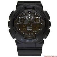 Часы армейские Sanda Water Resistant 50 m черные
