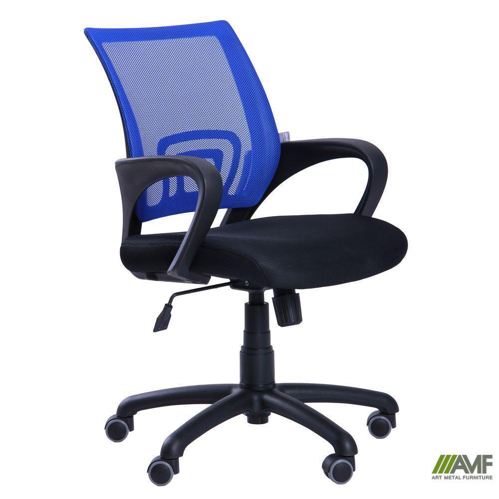 Кресло Веб сиденье Сетка серая/спинка Сетка синяя