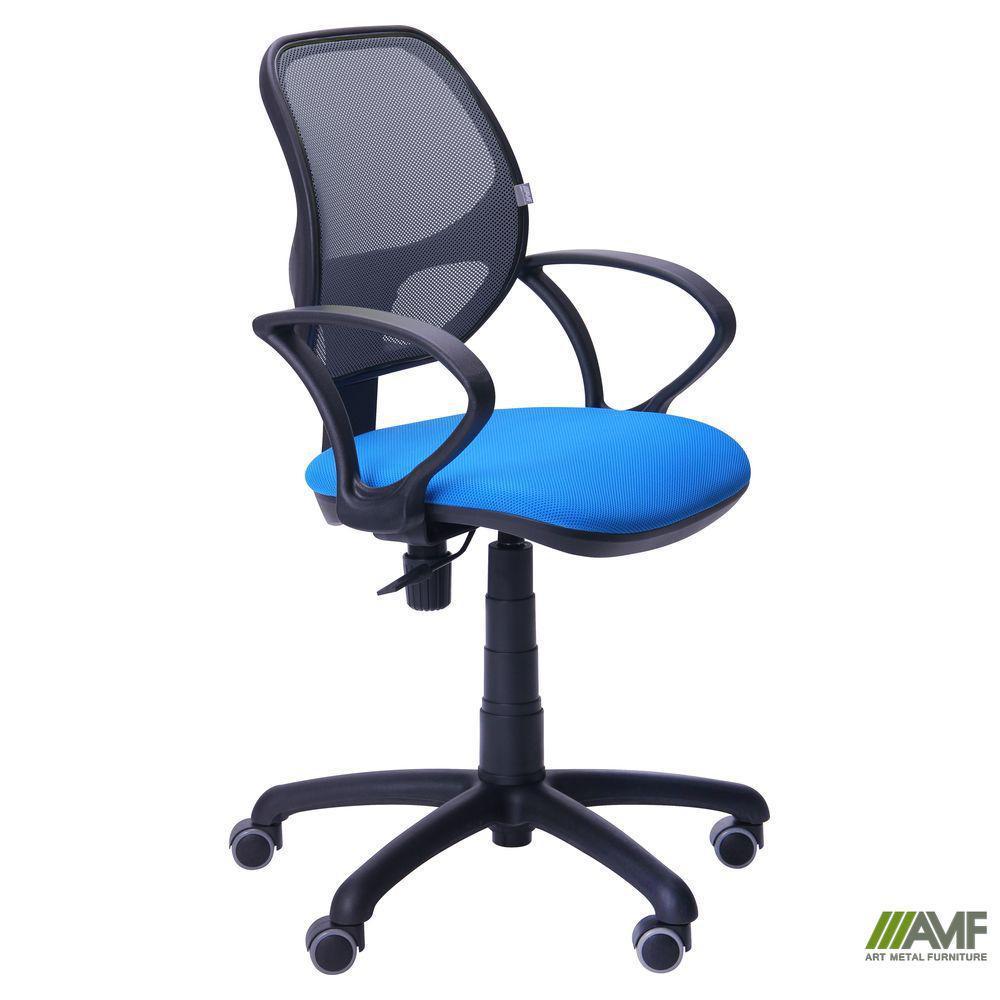 Кресло Байт/АМФ-4 сиденье Сетка черная/спинка Сетка серая