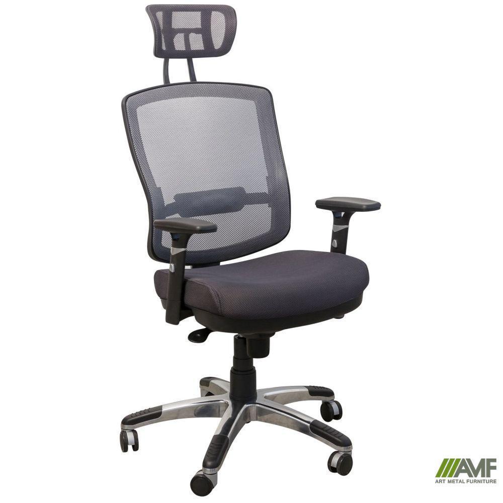 Крісло Коннект HR сидіння Сітка сіра/спинка Сітка сіра