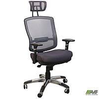 Крісло Коннект HR сидіння Сітка сіра/спинка Сітка сіра, фото 1