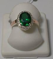 Серебряное кольцо с зеленым камнем Мирате