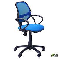 Крісло Байт/АМФ-4 сидіння Сітка чорна/спинка Сітка синя, фото 1