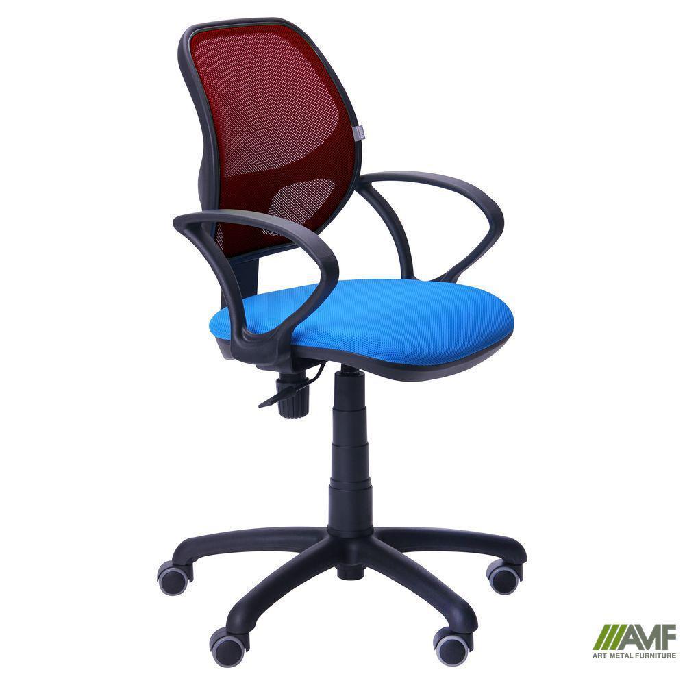 Кресло Байт/АМФ-4 сиденье Сетка черная/спинка Сетка бордовая