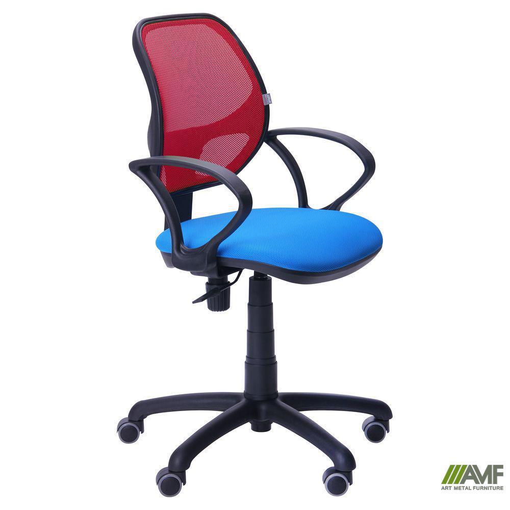 Крісло Байт/АМФ-4 сидіння Сітка сіра/спинка Сітка червона