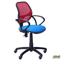 Крісло Байт/АМФ-4 сидіння Сітка сіра/спинка Сітка червона, фото 1