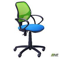 Кресло Байт/АМФ-4 сиденье Сетка черная/спинка Сетка салатовая, фото 1