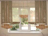 Комплект панельных шторок оливковые, фисташковые, 2м, фото 1