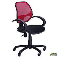 Крісло Байт/АМФ-5 сидіння Сітка чорна/спинка Сітка червона, фото 1