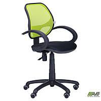 Кресло Байт/АМФ-5 сиденье Сетка черная/спинка Сетка лайм, фото 1