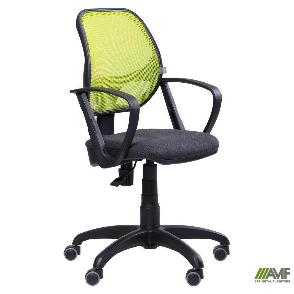 Крісло Біт/АМФ-7 сидіння Неаполь N-20/Сітка чорна спинка