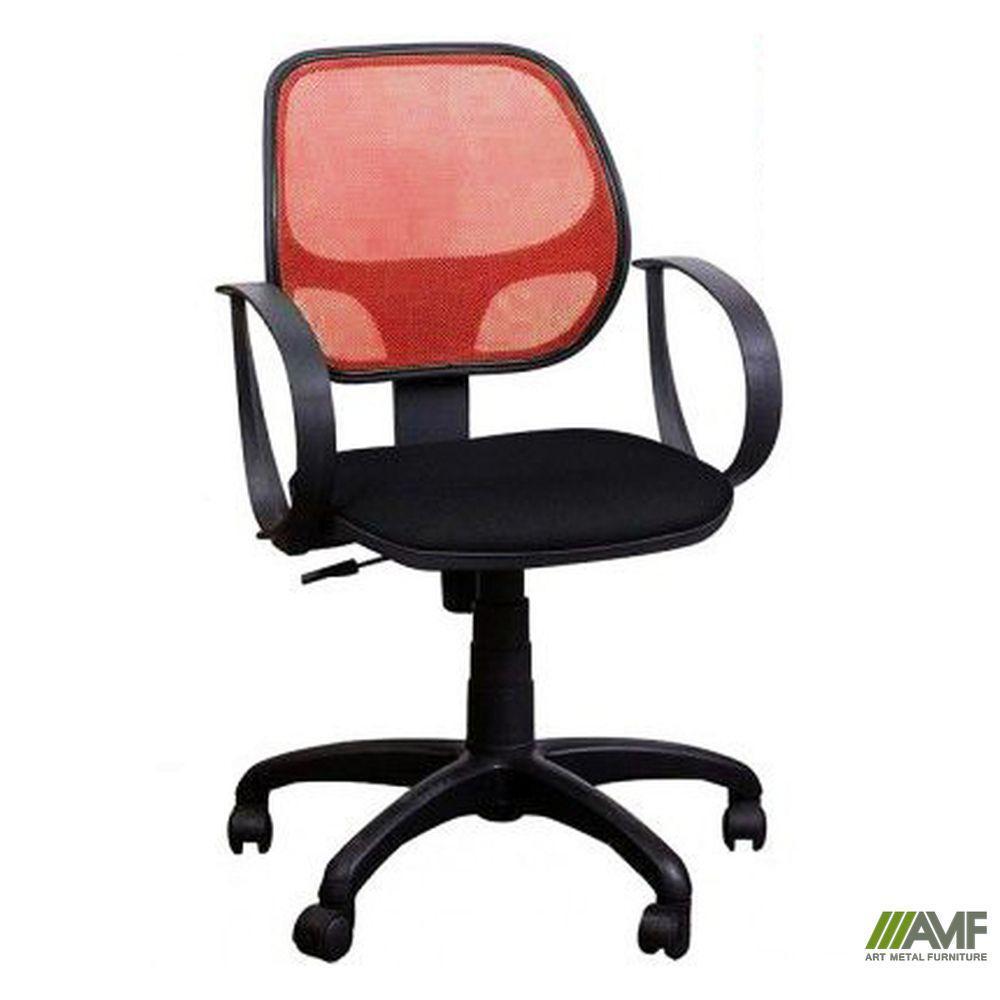 Крісло Біт/АМФ-8 сидіння Сітка сіра/спинка Сітка червона