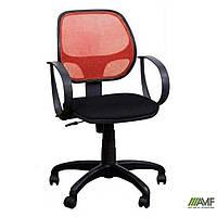 Крісло Біт/АМФ-8 сидіння Сітка сіра/спинка Сітка червона, фото 1