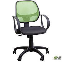 Кресло Бит/АМФ-8 сиденье Сетка черная/спинка Сетка салатовая, фото 1