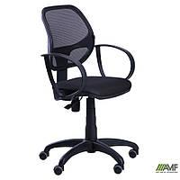 Кресло Бит/АМФ-8 сиденье Сетка черная/спинка Сетка лайм, фото 1