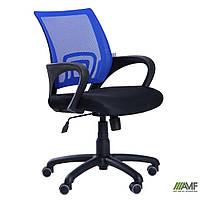 Кресло Веб сиденье Сетка черная/спинка Сетка синяя, фото 1