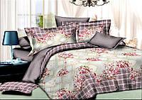 Двуспальный комплект постельного белья евро 200*220 хлопок  (7279) TM KRISPOL Украина