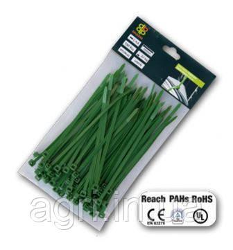 Стяжки пластиковые многоразовые GREEN 7,6*250 мм