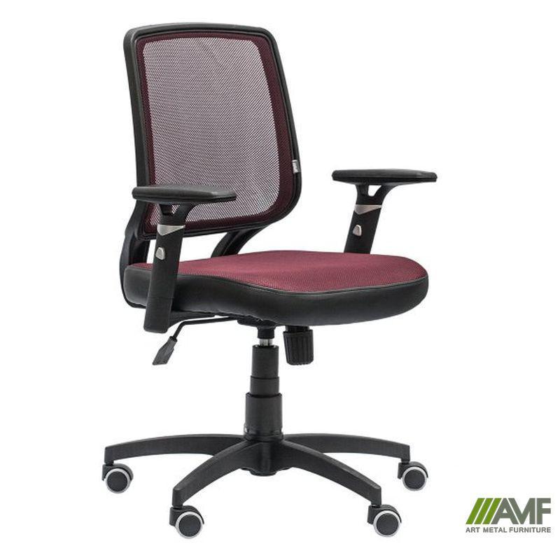 Кресло Онлайн сиденье Сетка черная/спинка Сетка бордовая