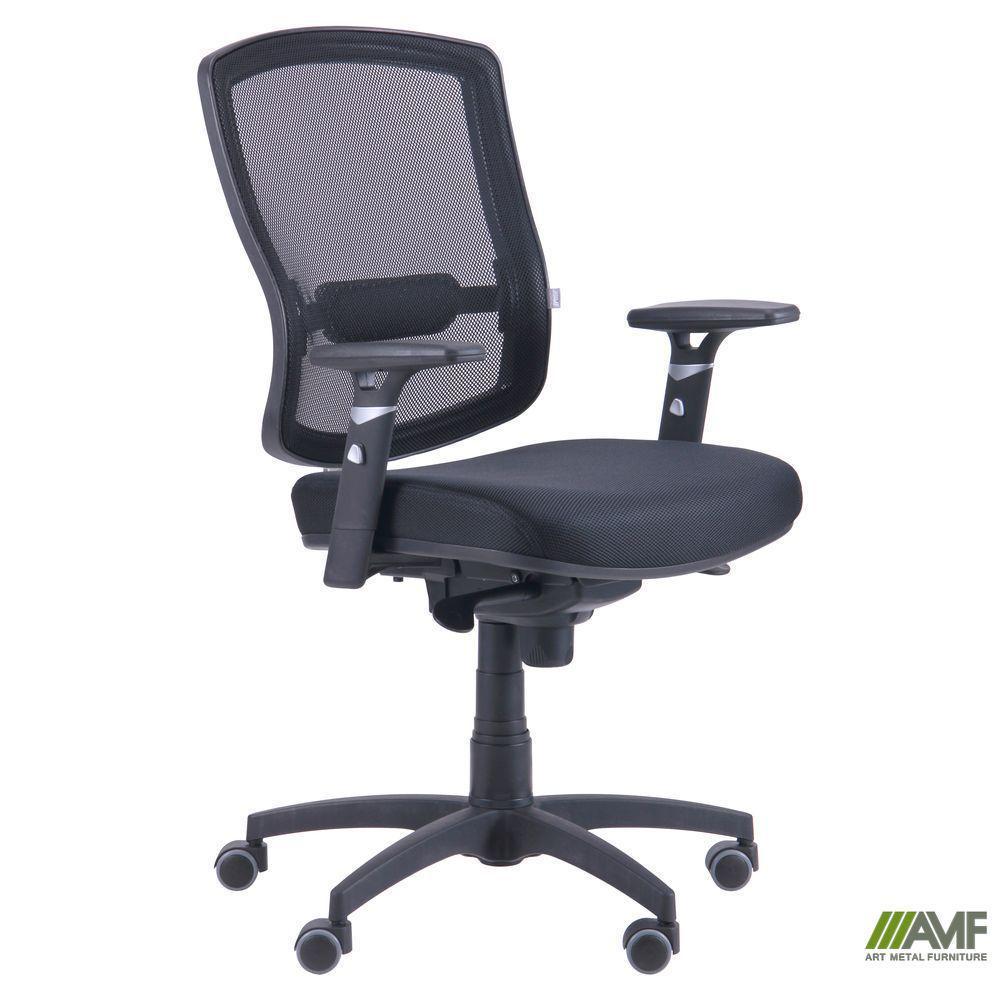 Кресло Коннект сиденье Сетка черная/спинка Сетка оранжевая