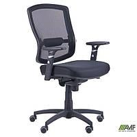 Кресло Коннект сиденье Сетка черная/спинка Сетка оранжевая, фото 1