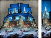 Двуспальный комплект постельного белья евро 200*220 хлопок  (7647) TM KRISPOL Украина