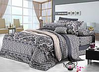 Полуторный комплект постельного белья 150*220 сатин (7659) TM KRISPOL Україна