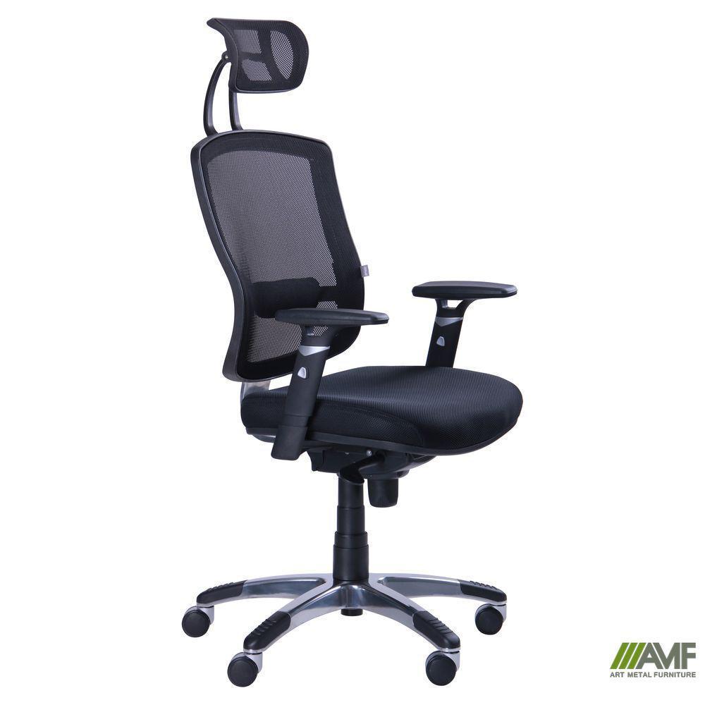 Кресло Коннект HR сиденье Сетка черная/спинка Сетка лайм