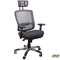 Крісло Коннект HR сидіння Сітка чорна/спинка Сітка сіра, фото 1