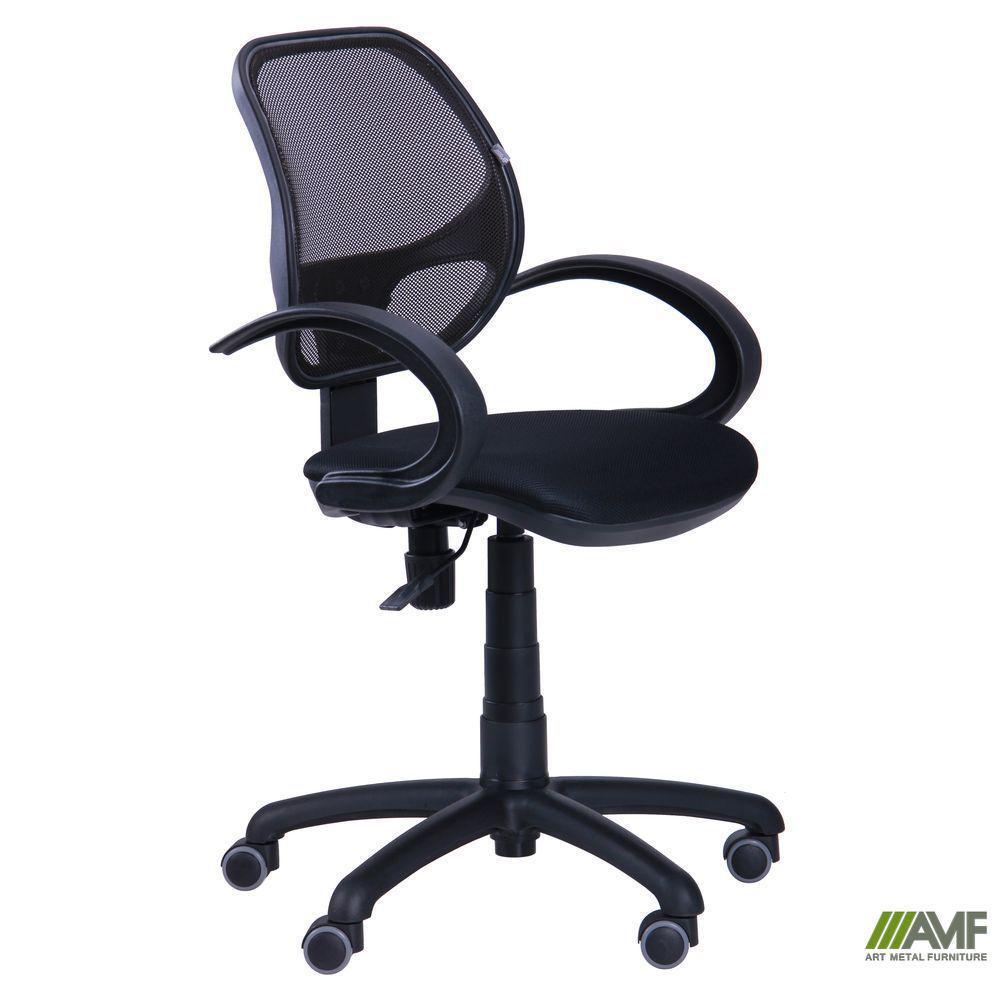 Крісло Байт/АМФ-5 сидіння Сітка сіра/спинка Сітка синя