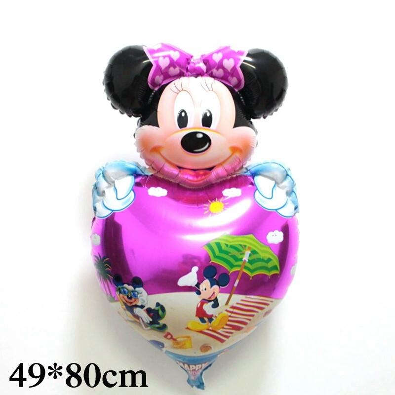 """Большой воздушный шарик """"Минни Маус"""" девочка на сердце 49×80 Фигура Фольга"""