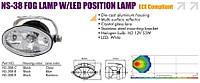 Фары дополнительные SIRIUS NS-38 D-B-C +LED 2x1W Wh Taiwan пара